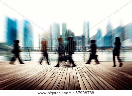 Business People Commuter City Life Busy Concept