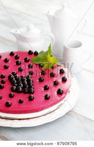 homemade blackberry cheesecake - sweet food