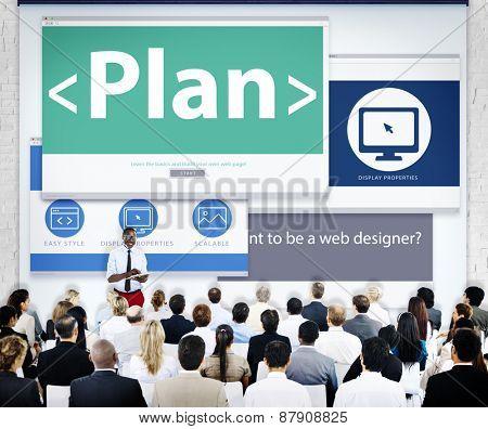 Business People Plan Web Design Concept