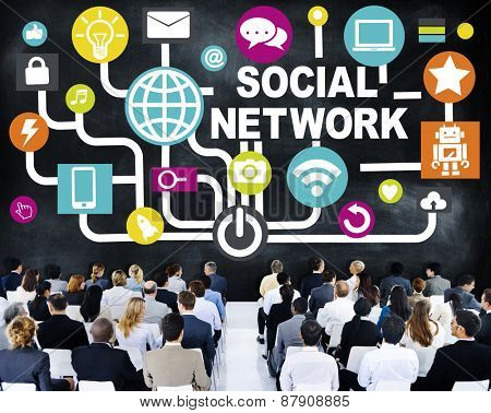 Business People Conference Seminar Communication Social Network Concept