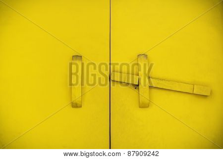 Yellow Wooden Latch