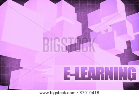 E-learning on Futuristic Abstract for Presentation Slide background
