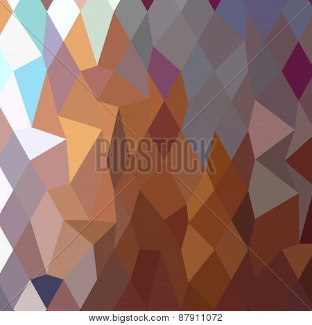 Cocoa Brown Abstract Low Polygon Background