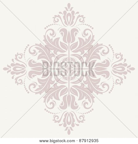 Damask  Pattern. Orient Pink Ornament