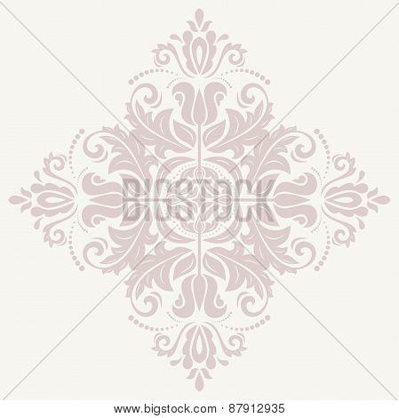 Damask  Pattern. Orient Pink Ornament
