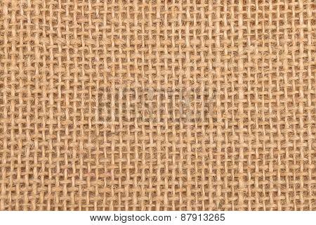 Close up burlap texture background