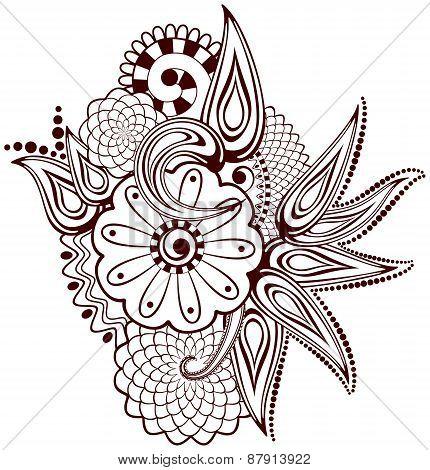 Paisley Flowers Mehndi