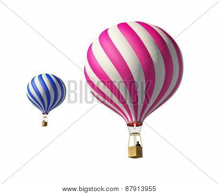 Isolated On White 3D Balloons.