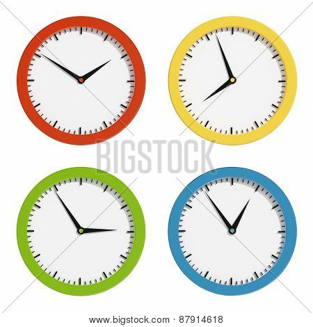 Multi-colored Clocks