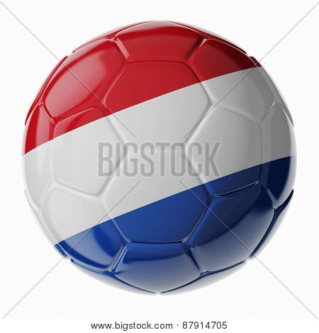 Soccer Ball. Flag Of Netherlands