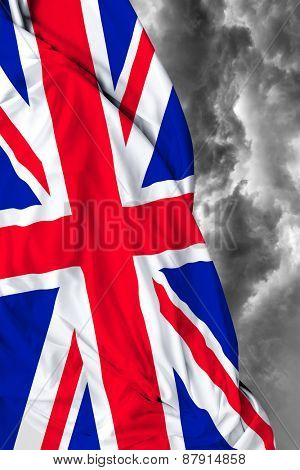 UK waving flag on a bad day