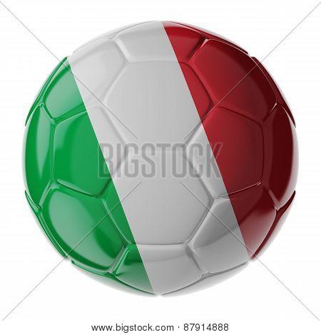 Soccer Ball. Flag Of Italy
