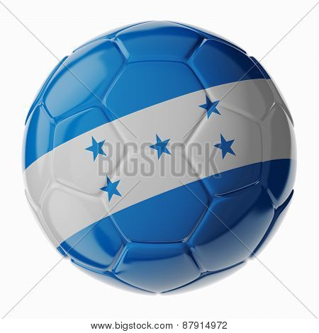 Soccer Ball. Flag Of Honduras