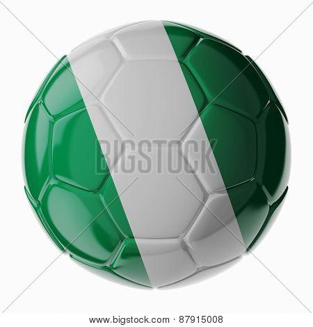 Soccer Ball. Flag Of Nigeria