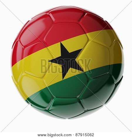 Soccer Ball. Flag Of Ghana