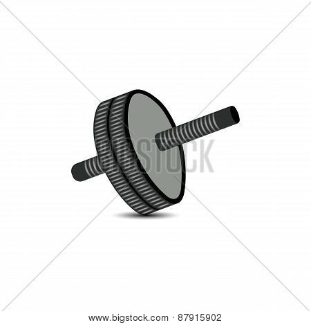 Roller For Abdomen, Vector Illustration.