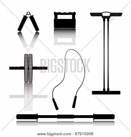 Sports Equipment, Vector Illustration.