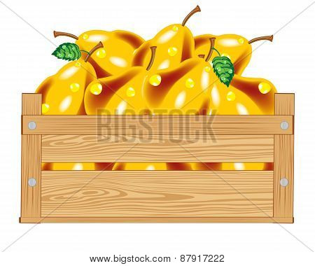 Box with pear