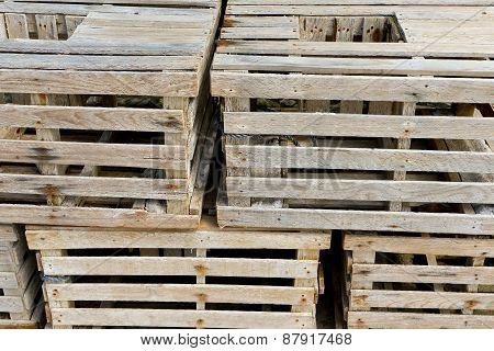 Old Wooden Crates Stacked