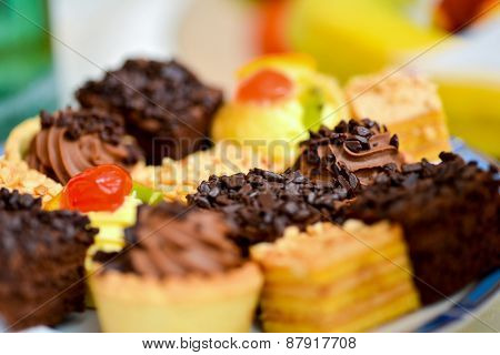 Delicious Platter Of Cupcakes