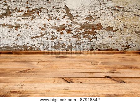 Wooden Table With Empty Background And Texture