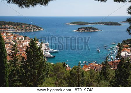 View Of The City Of Hvar From A Fortress. Island Hvar. Croatia.