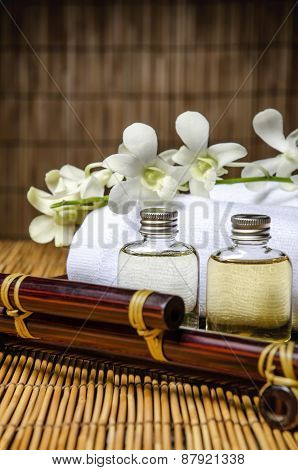 Closeup of massage oil