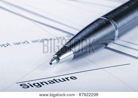 Contract for signing