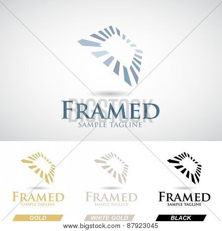 Square Frame Icon in Various Colors Vector Illustration