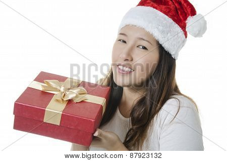 Excited with a gift