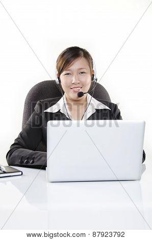 Friendly customer service in call center