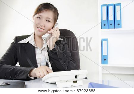 Business person make a call