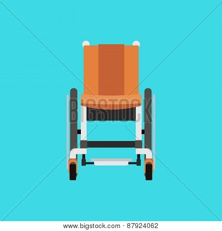 Vector Illustration of a Wheelchair