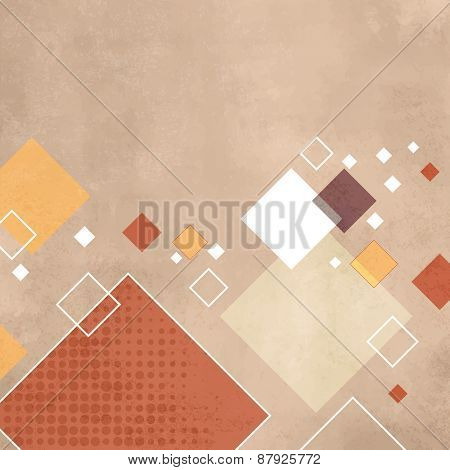 Retro squares - geometric pattern - abstract vintage rhombus background