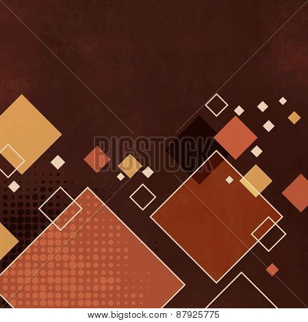 Retro background - abstract square pattern