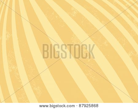 Yellow background - retro striped pattern - abstract lines