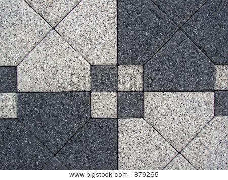 Black White Block Paving