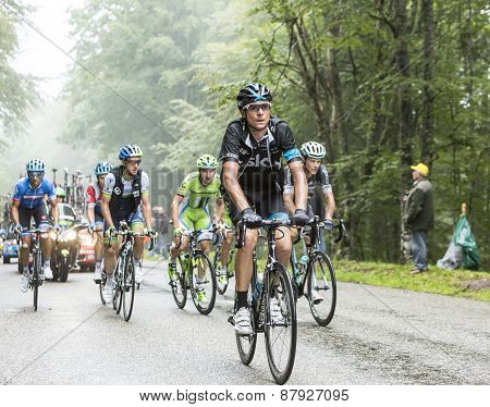 The Cyclist Danny Pate Climbing Col Du Platzerwasel - Tour De France 2014