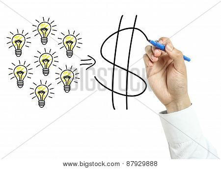 Businessman Drawing Success Concept