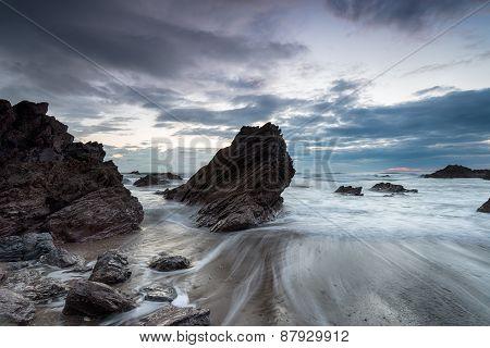 Nightfall Over Sharrow Beach