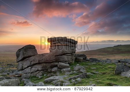 Staple Tor On Dartmoor