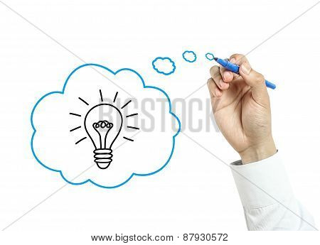 Businessman Drawing Good Idea Concept