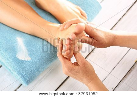 Acupressure, foot massage