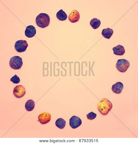 Creative Abstract Design Concept - Group Dried Fruits