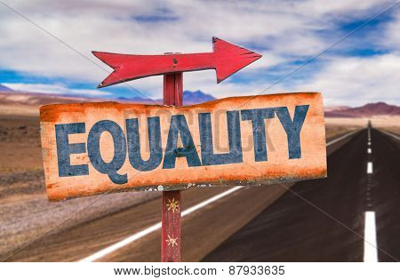 Equality sign with road background
