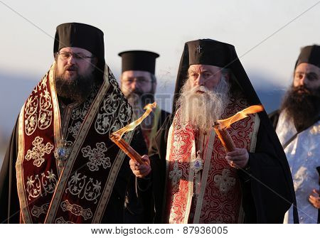 Christian Priests Holy Sacred Fire
