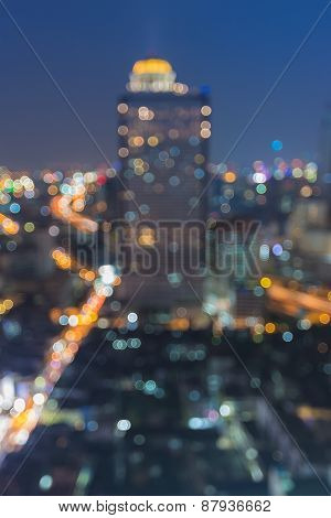 Beauty of cityscape blurred bokeh lights