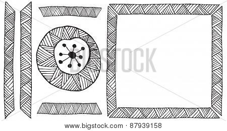 Ethnic African handmade ornament element