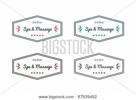 Vector spa and massage logo templates