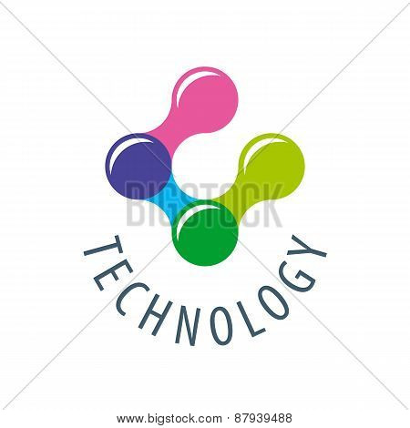 Vector Logo Colored Atoms For Technology